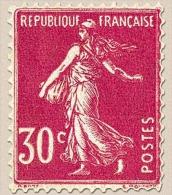 Type Semeuse Fond Plein, Inscriptions Grasses. 30c. Rose (I) Y191 - France