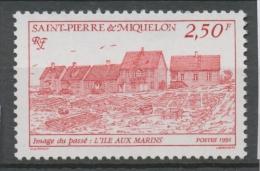 SPM  N°537 Images Du Passé. 1f.70 Bleu L' île Aux Marins ZC537 - St.Pierre Et Miquelon