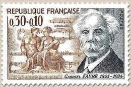 Célébrités. Gabriel Faure Et Ulysse Et Pénélope, Pour Le Prématice. 30c. + 10c. Gris-bleu Et Ocre Y1473 - France