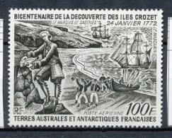 T.A.A.F Aérien 1972 N°27 Bicentenaire Découverte Des îles Crozet N** ZT151A - Posta Aerea