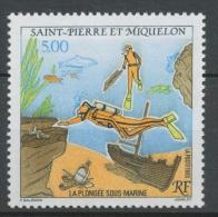 SPM  N°574 La Plongée Sous-marine 5f Plongeurs, épaves, Poissons ZC574 - St.Pierre & Miquelon