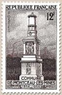 Centenaire De L'érection En Commune De Montceau-les-Mines. 12f. Brun-violet Y1065 - France