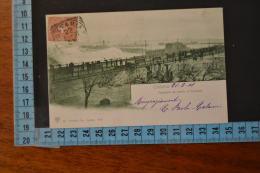 1901 CATANIA bellissima rara veduta Tempesta nel porto. viaggiata