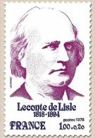 Personnages Célèbres. Leconte De Lisle 1f. + 20c. Lilas-rouge Et Bleu-violet Y1988 - Francia