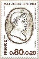Personnages Célèbres. Max Jacob 80c. + 20c. Brun-rouge Et Brun-olive Y1881 - Francia