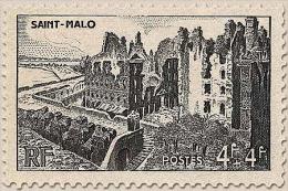 Au Profit De L'Entraide Française. Les Remparts, à Saint-Malo.  4f.+4f. Noir Y747 - Francia