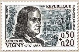 Célébrités. Alfred De Vigny (poète, Centenaire De Sa Mort) 50c. + 20c. Brun-noir, Bleu-gris Et Sépia Y1375 - France