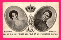 Bienvenue - Le Prince Léopold Et La Princesse Astrid En Médaillon - L.L. A.A. RR. - C.DOUTEAU - Familles Royales