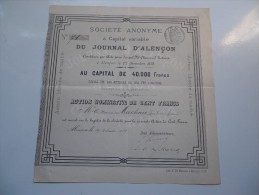 JOURNAL D'ALENCON (1879) ORNE - Unclassified