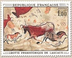 Oeuvre D'art. Peinture Rupestre De La Grotte De Lascaux à Montignac (Dordogne) 1f. Polychrome Y1555 - Frankreich