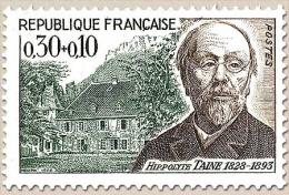 Célébrités. Hippolyte Taine, Philosophe 30c. + 10c. Brun Et Vert Y1475 - Francia