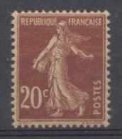 Type Semeuse Fond Plein Sans Sol. 20c. Lilas Brun (I) Y139a - Frankreich