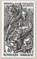 Grands Noms De L'Histoire. Philippe II Auguste (1165-1222) 40c. Gris Et Noir Y1538 - France
