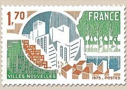 Villes Nouvelles. 1f.70 Brun-jaune, Vert Et Bleu Y1855 - France
