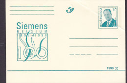 Belgium Postal Stationery Ganzsache Entier SIEMENS 1898-1998 König Albert II. Unused - Ganzsachen