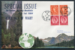 1964 GB Holiday Booklet FDC Ryde Isle Of Wight First Day Cover - FDC