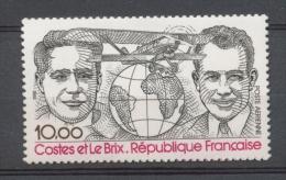 Dieudonné Coste (1892-1973)Joseph Le Brix(1899-1931)PA 10f Noir Et Rouge N** YA55 - Poste Aérienne