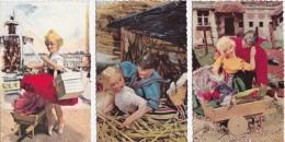 LOT  DE  6  CP  - POUPÉES  Toutes Scanées - 5 - 99 Postkaarten