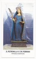 Santa Petronilla - Patrona Di Assoro - Enna - Sc1 - M5 - Images Religieuses
