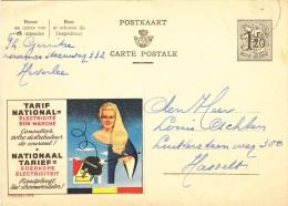 PUBLIBEL 1379 - ELECTRICITE - ELECTRICITEIT - Heverlee 1955 - Enteros Postales