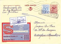 PUBLIBEL 2224  -  SANIRENCO - DAMPREMY / CHARLEROI - + Etiquette N´habite Plus à L´adresse Indiquée - Entiers Postaux