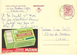 PUBLIBEL 2347 N  -  POEDERS MANN - EMBOURG 1969 - Stamped Stationery
