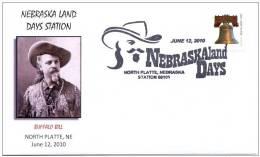 UNITED STATES OF AMERICA. USA 2010. PICTORIAL POSTMARK. NEGRASKA LAND DAYS. BUFFALO BILL - American Indians