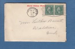 Enveloppe Ancienne Et Son Courrier - Indianapolis , Indiana - 5 Février 1917 - Stamp US Postage 1 Cent - Etats-Unis