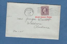 Enveloppe Ancienne Et Son Courrier - Indianapolis , Indiana - 18 Mars 1918 - Stamp US Postage 3 Cents - Etats-Unis