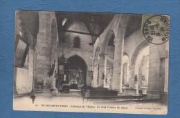 CPA - ROCHEFORT En TERRE - Intérieur De L' Eglise - Entrée Du Choeur - 1917 - Artaud Nozais à Nantes - Rochefort En Terre
