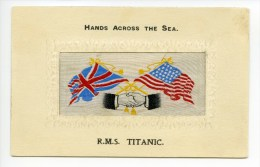 RMS Titanic Silk Postcard.