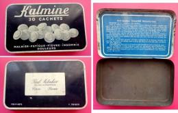 Boîtes En Métal -  Kalmine  30 Cachets - 14x9x2 Cm  - Docteur Paul Metadier Tours - Scatole