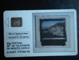 t�l�carte office des t�l�phones de Monaco : 32�me festival de t�l�vision de monte-carlo 1992  - th�me culture 30 000 ex
