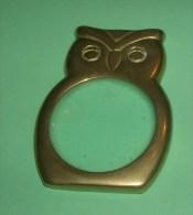 Loupe En Forme De Chouette - Métal Doré - Birds - Owls