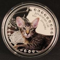 Javanese Cat With Swarovski Eyes .999 - Niue