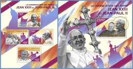 tg14417ab Togo 2014 Pope John Paul II 2 s/s Pope Saint John XXIII