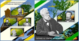 tg14420ab Togo 2014 Jules Verne novel Dinosaur 2 s/s