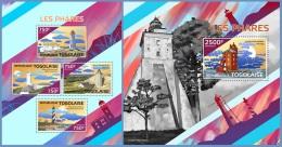 tg14421ab Togo 2014 Lighthouses 2 s/s