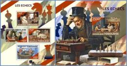tg14423ab Togo 2014 Chess 2 s/s