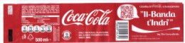 COCA COLA BOTTLE LABEL FROM MALTA - Unclassified