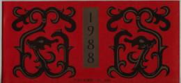 Chine China Cina 1988 Carnet Année Du Dragon Booklet Ref SB15 - 1949 - ... Repubblica Popolare
