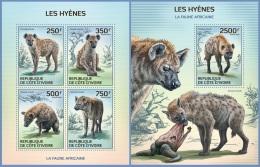 ic14114ab Ivory Coast 2014 Hyenas 2 s/s