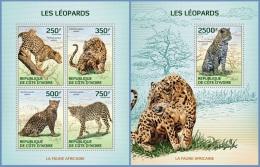 ic14115ab Ivory Coast 2014 Leopards 2 s/s
