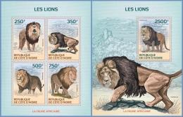 ic14116ab Ivory Coast 2014 Lions 2 s/s