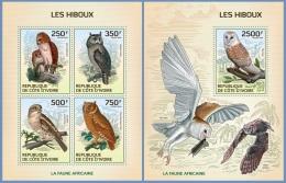 ic14117ab Ivory Coast 2014 Owls 2 s/s