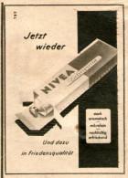 Original-Werbung/Inserat/ Anzeige 1949 - NIVEA ZAHNPASTA FRIEDENSQUALITÄT - Ca.50 X 70 Mm - Werbung