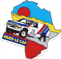 Autocollant, Stickers, Rallye Automobile Paris-le Cap, Nissan, Carte De L'afrique - Autocollants