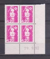 FRANCE / Coin Daté / Y&T N° 2770 / 1992/09/29 ( ) / Briat 4F20 Rose - 1990-1999
