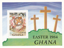 Ghana 1984 Easter Souvenir Sheet MNH - Ghana (1957-...)
