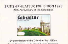 Gibraltar 1978 25th Anniversary Of Coronation Souvenir Sheet MNH - Gibraltar